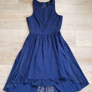 [Sugarlips] Bright Blue High-Low Midi Dress